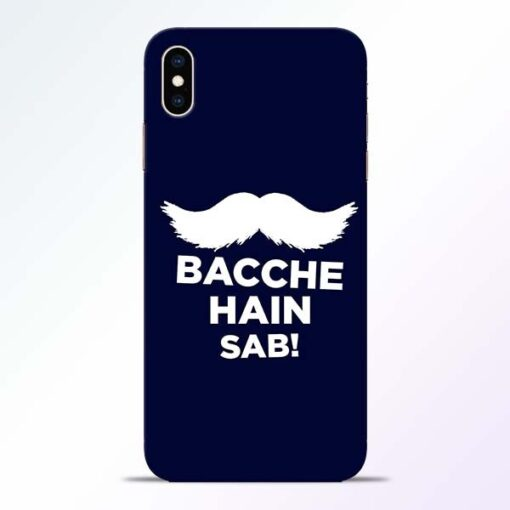 Bacche Hain Sab iPhone XS Max Mobile Cover