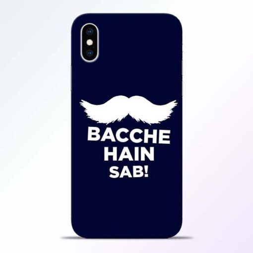 Bacche Hain Sab iPhone XS Mobile Cover