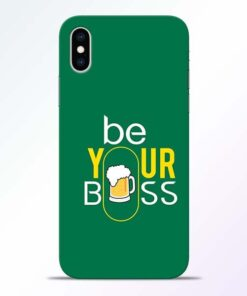 Be Your Boss iPhone XS Mobile Cover