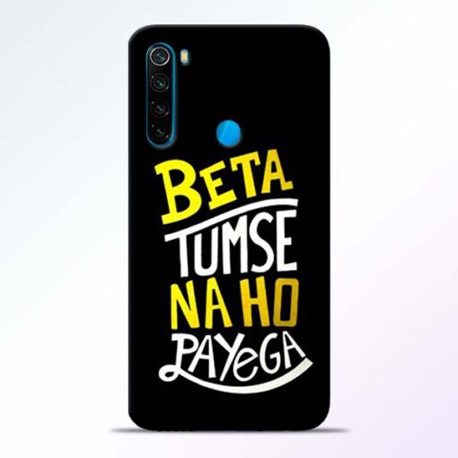 Beta Tumse Na Redmi Note 8 Mobile Cover