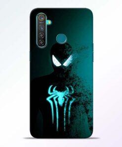Black Spiderman RealMe 5 Pro Mobile Cover - CoversGap