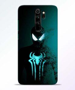 Black Spiderman Redmi Note 8 Pro Mobile Cover