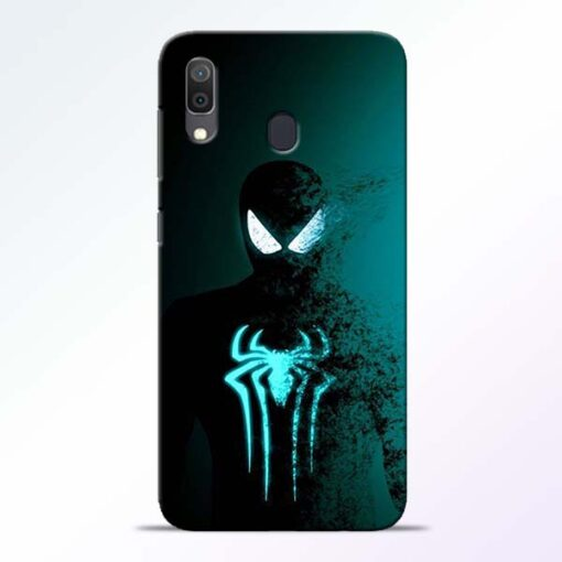 Black Spiderman Samsung A30 Mobile Cover - CoversGap