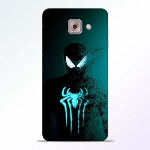 Black Spiderman Samsung Galaxy J7 Max Mobile Cover