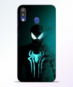 Black Spiderman Samsung M20 Mobile Cover - CoversGap