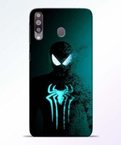Black Spiderman Samsung M30 Mobile Cover - CoversGap