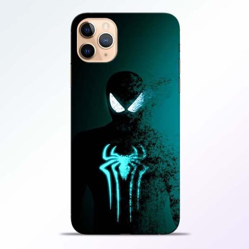 Black Spiderman iPhone 11 Pro Mobile Cover
