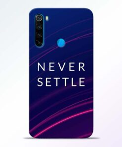 Blue Never Settle Redmi Note 8 Mobile Cover