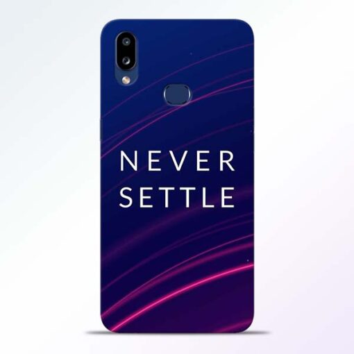 Blue Never Settle Samsung Galaxy A10s Mobile Cover