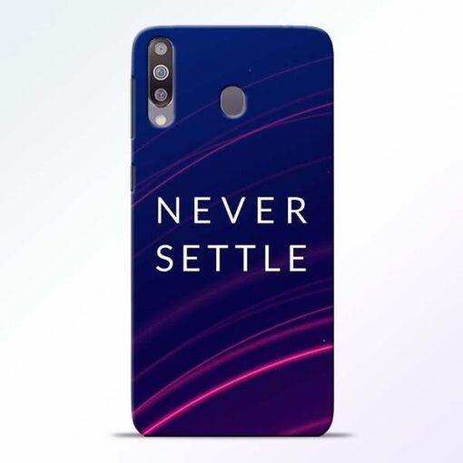 Blue Never Settle Samsung M30 Mobile Cover - CoversGap
