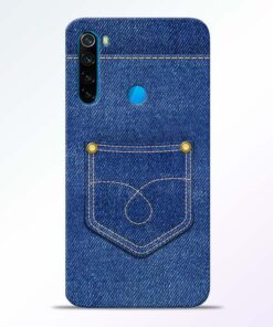 Blue Pocket Redmi Note 8 Mobile Cover - CoversGap