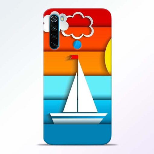 Boat Art Redmi Note 8 Mobile Cover - CoversGap