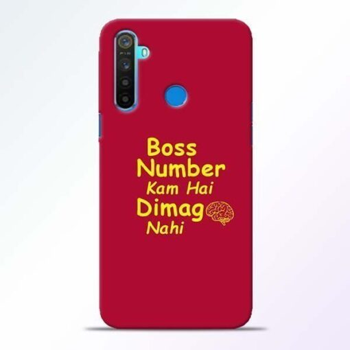 Boss Number Realme 5 Mobile Cover