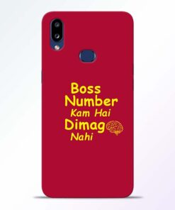 Boss Number Samsung Galaxy A10s Mobile Cover