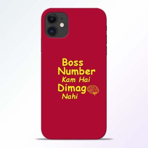Boss Number iPhone 11 Mobile Cover