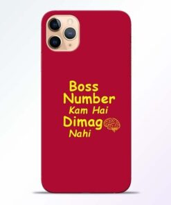 Boss Number iPhone 11 Pro Mobile Cover