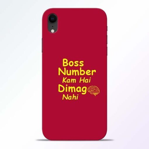 Boss Number iPhone XR Mobile Cover