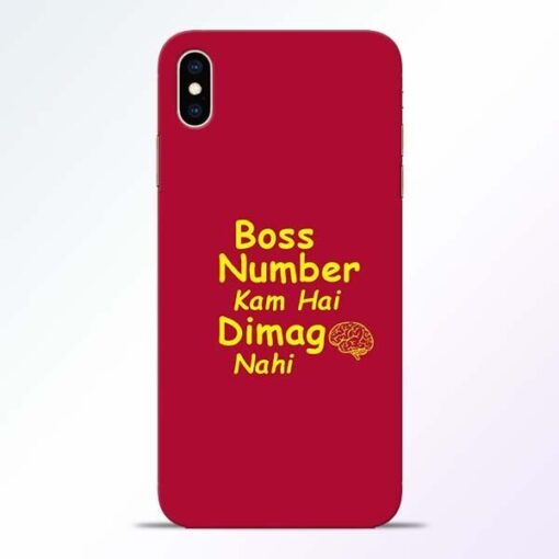 Boss Number iPhone XS Max Mobile Cover