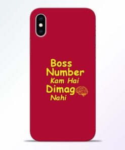 Boss Number iPhone XS Mobile Cover