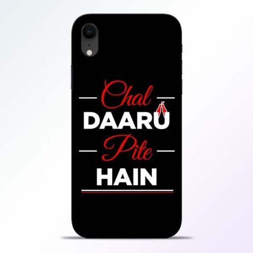Chal Daru Pite H iPhone XR Mobile Cover