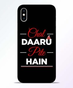 Chal Daru Pite H iPhone XS Mobile Cover