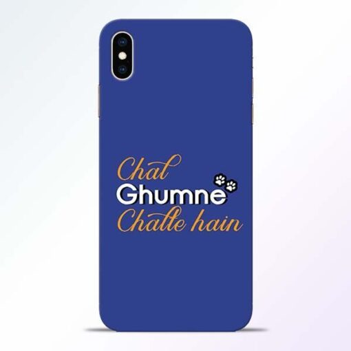 Chal Ghumne iPhone XS Max Mobile Cover