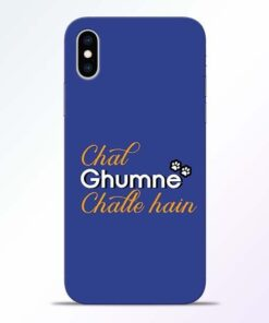 Chal Ghumne iPhone XS Mobile Cover