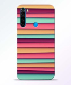 Color Stripes Redmi Note 8 Mobile Cover - CoversGap