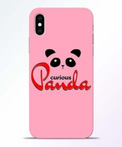 Curious Panda iPhone XS Mobile Cover