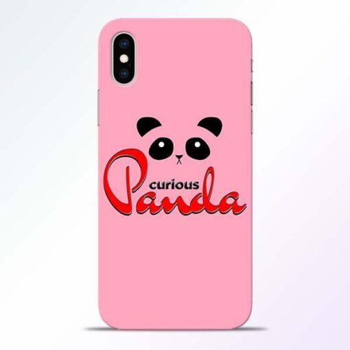 Curious Panda iPhone XS Mobile Cover