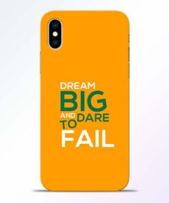 Dare to Fail iPhone XS Mobile Cover