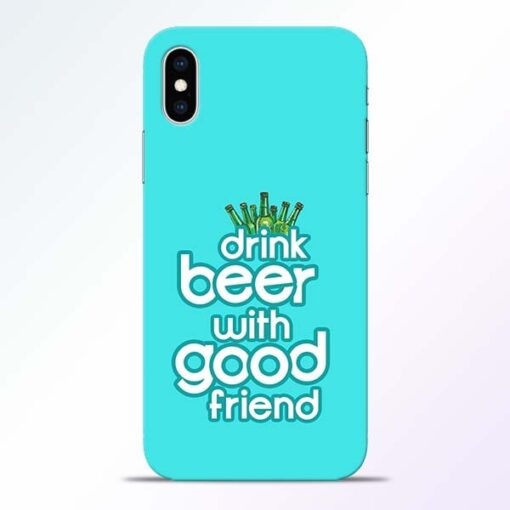 Drink Beer iPhone XS Mobile Cover