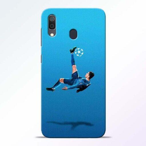 Football Kick Samsung A30 Mobile Cover - CoversGap
