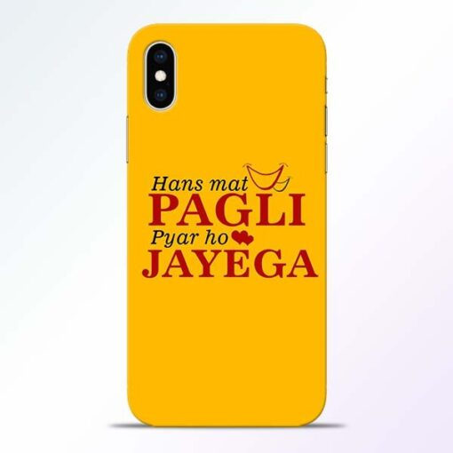 Hans Mat Pagli iPhone XS Mobile Cover