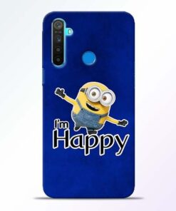 I am Happy Minion Realme 5 Mobile Cover