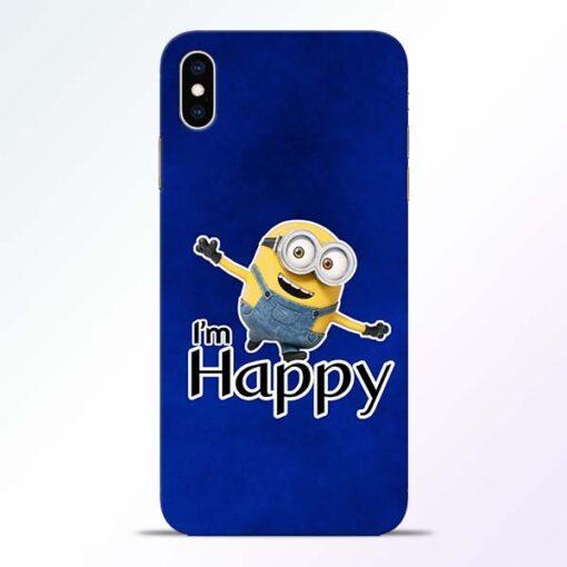 I am Happy Minion iPhone XS Max Mobile Cover