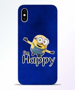 I am Happy Minion iPhone XS Mobile Cover