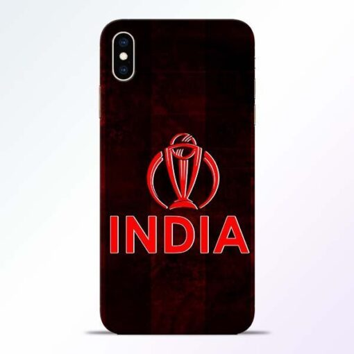 India Worldcup iPhone XS Max Mobile Cover