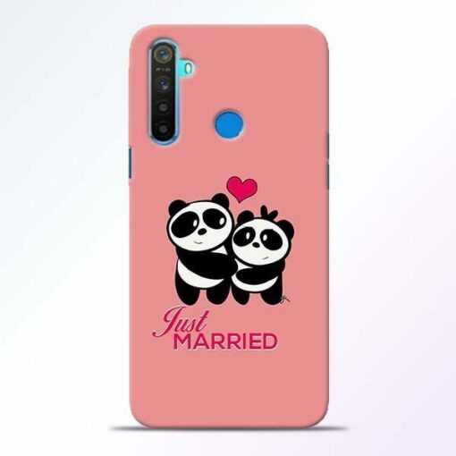 Just Married Realme 5 Mobile Cover