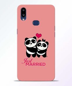 Just Married Samsung Galaxy A10s Mobile Cover