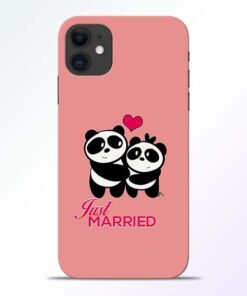 Just Married iPhone 11 Mobile Cover