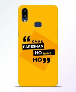 Kahe Pareshan Samsung Galaxy A10s Mobile Cover