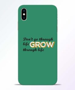 Life Grow iPhone XS Max Mobile Cover