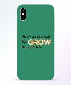 Life Grow iPhone XS Mobile Cover