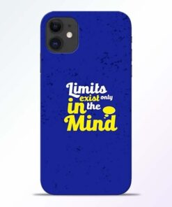 Limits Exist iPhone 11 Mobile Cover