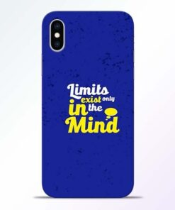 Limits Exist iPhone XS Mobile Cover