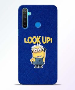 Look Up Minion Realme 5 Mobile Cover