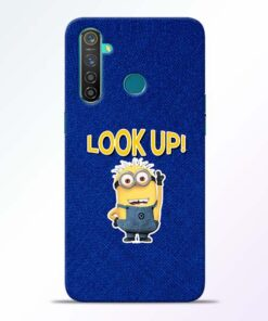 Look Up Minion Realme 5 Pro Mobile Cover