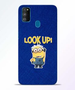 Look Up Minion Samsung Galaxy M30s Mobile Cover