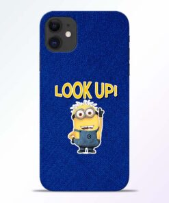 Look Up Minion iPhone 11 Mobile Cover